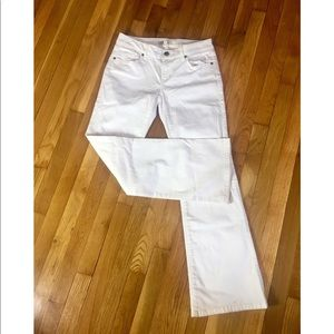 CAbi white jeans size 4